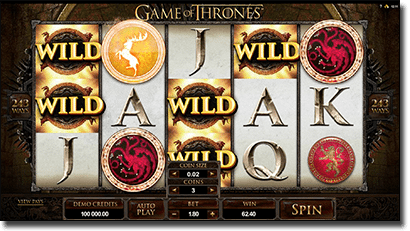 Game of thrones pokies game